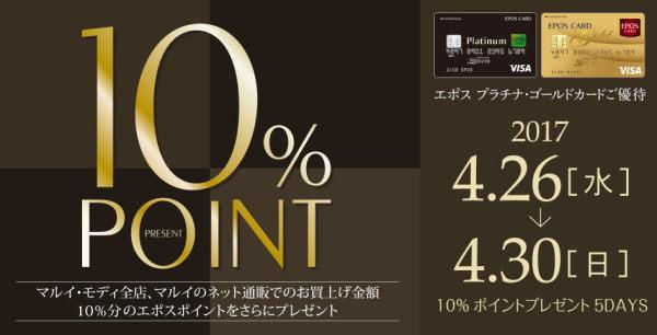 エポスゴールドプラチナ10%ポイントキャンペーン2017年4月