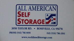 📷 🔐 All American Self Storage - Roseville - SATURDAY AUCTION! @ 3050 Taylor Road, Roseville, CA 95678, USA 916.860.7637 | Roseville | California | United States
