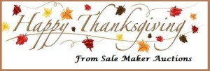 Sale Maker Auctions Happy Thanksgiving