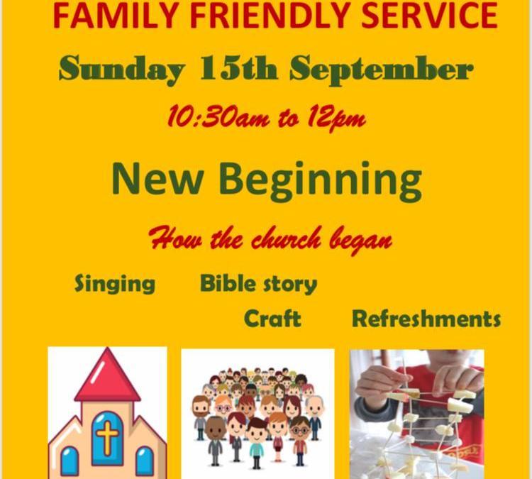 September – Family Friendly Service