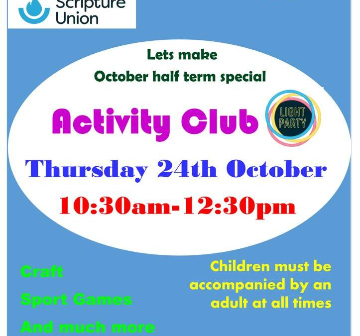 Lets make October half term special