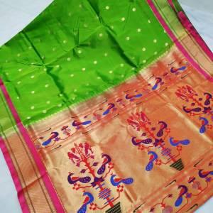 Art Silk Designer Pallu Paithani Saree