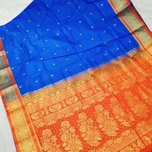 Semi Silk Kanjivaram Saree (Range-2) – Light Blue