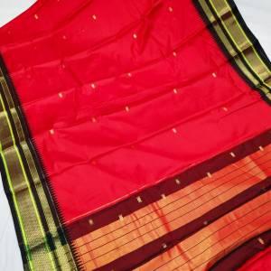 Irkal Soft Cotton Silk Paithani Saree