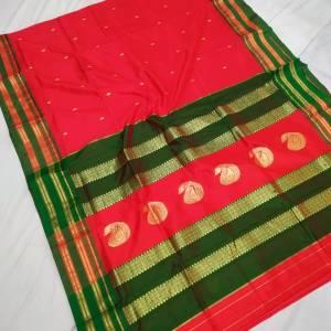 Pure Narayanpeth Silk Paithani Saree