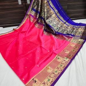 Peshwai Paithani Pure Silk Saree