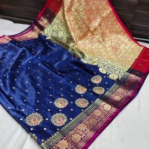 Banarasi Shalu Shine Silk Saree