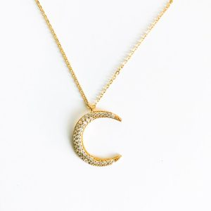 gold crescent moon