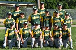 The Glenvar AAA Dixie League All-Stars. Front Row (left to right) Camden Summerville, Cale Vaughan, Grayson Shearer, Landon Rakes, Jacob Campbell and Brody Williams. Second Row; Chase Shannon, Drew Butler, Avery Thompson, Jace Forster, Sarge Persinger and Gray Hutchison. Back Row; Coaches Michael Williams, Travis Shannon and Daniel Summerville. SUBMITTED PHOTO