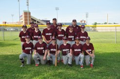 The Salem O-Zone Dixie League All-Stars. Front Row, left to right; Evan Fletcher, Wilson Rakes, Carter Black, Ryan Warren, Michael Walthall and Adam Gaut. Second row; Grant Clemens, Caleb Furmage, Ryan Coe, James Buckles, Thomas Millard and Nathan Wells. Back row; coaches Shawn Rakes, Chris Clemens and Kevin Fletcher.