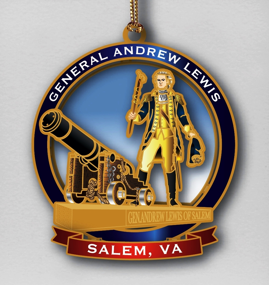 Salem Museum celebrates General Andrew Lewis' 300th birthday with a new ornament, Ghost Walk