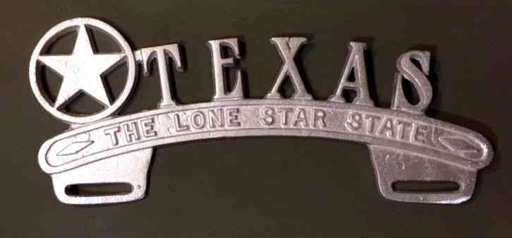 Texas License Plate Topper Lone Star State