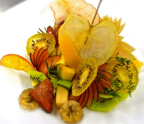 Dried Fruit and Fresh Fruit Salad.