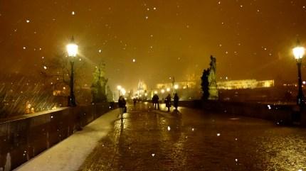 Charles Bridge at Night.