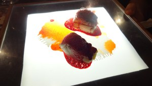 Black Cod with Beetroot.