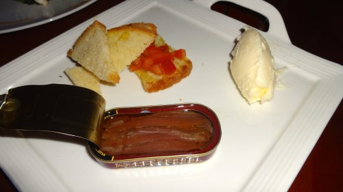 Anchovies with Bread and Butter.