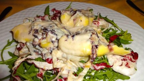 Tortellaci with Radicchio and Gorgonzola Cheese Sauce (7.5/10).
