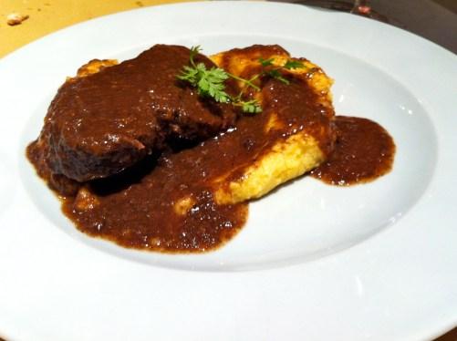 Beef with Polenta.