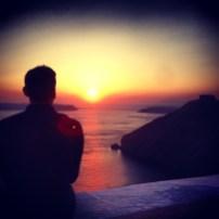 First Sunset in Santorini.