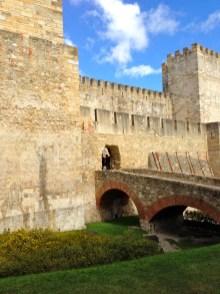 Inside Castle of Sao Jorge.