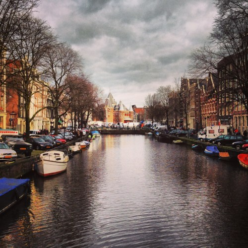 Beautiful City with Canals.