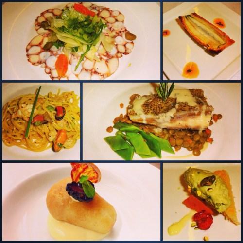 Southern Italian Seafood Menu.