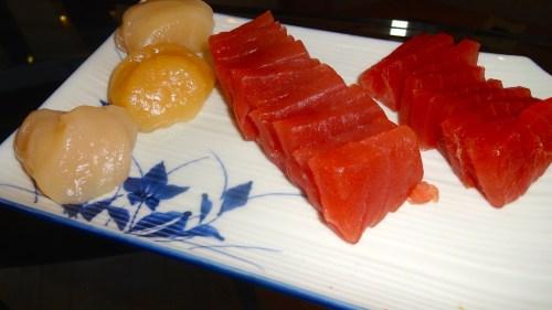 Scallop and Tuna.