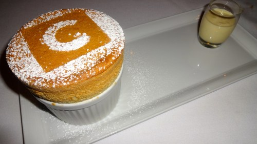 Canlis Souffl with Grand Marnier, Orange Zest, and Crème Anglaise (4/10).