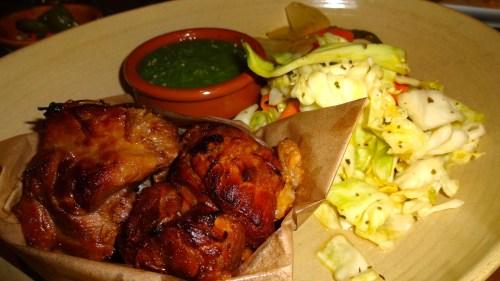 Carnitas: Braised Pork, with Cabbage Salad, pickled Jalapeño, and Salsa de Tomatillo (7/10).