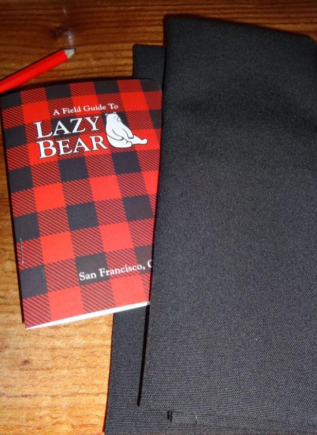 Lazy Bear Menu.
