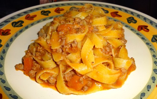 Tagliatelle con Maialino (Tagliatelle with Pork Ragù).