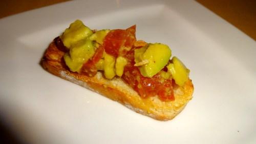 Amuse Bouche: Avocado and Tomato Crostino (8/10).