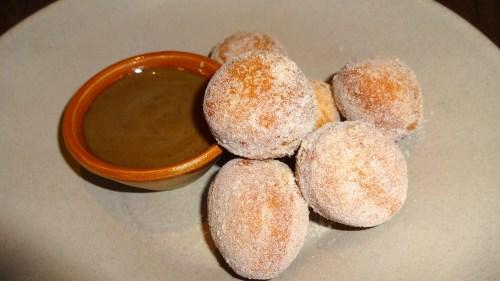Bomboloni with Cardamom Sugar and Coffee Anglaise (7.5/10).
