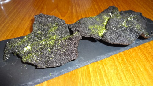 Nori Chips Dusted in Seaweed (8/10).