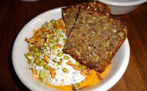 Rye Bread with Carrot Yogurt Wasabi Dip (7/10).