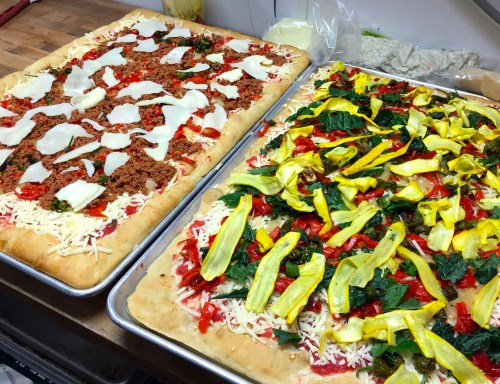 Foccacia Pizza Staff Meal.