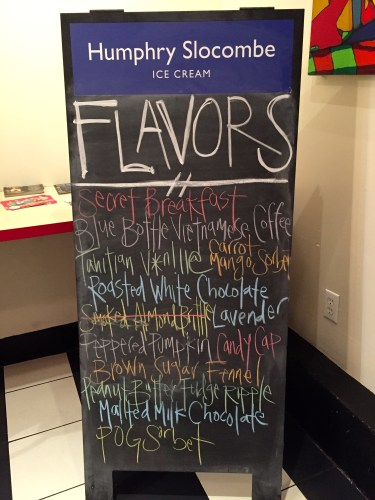 Flavors of the Day.