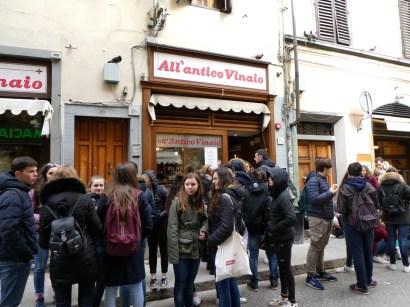 All'Antico Vinaio Panino Shop.