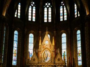 Inside Matthias Church.