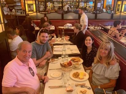 With Aunt Ellen and Uncle Milton.
