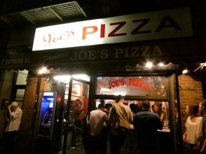 Joe's Pizza on Carmine.