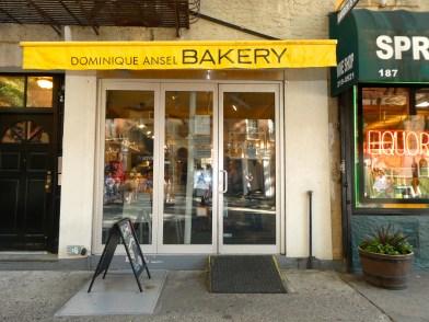 Outside Dominique Ansel Bakery in SoHo.