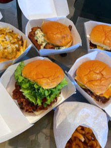 Smashburgers, Fried Chicken Sandwich, and Chili Cheese Fries.
