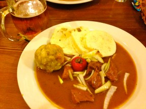 Goulash and Beer.
