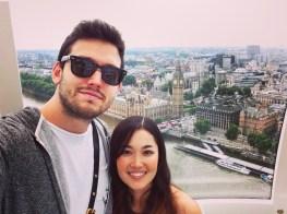 Selfie Inside the London Eye.