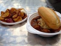 Goulash and Potatoes.