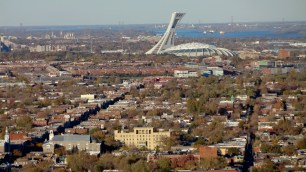 Olympic Stadium from Mount Royal.