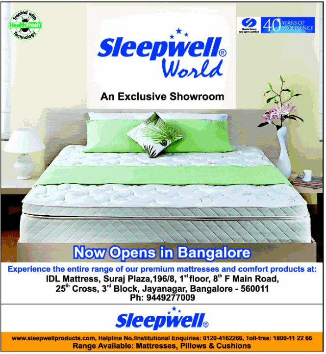Delhi Locations Sleepwell