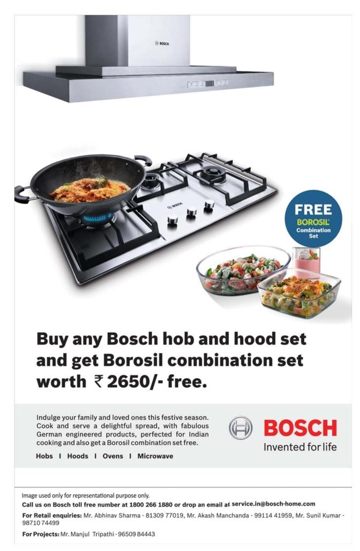 bosch kitchen set cabinets layout appliances free borosil combination new delhi