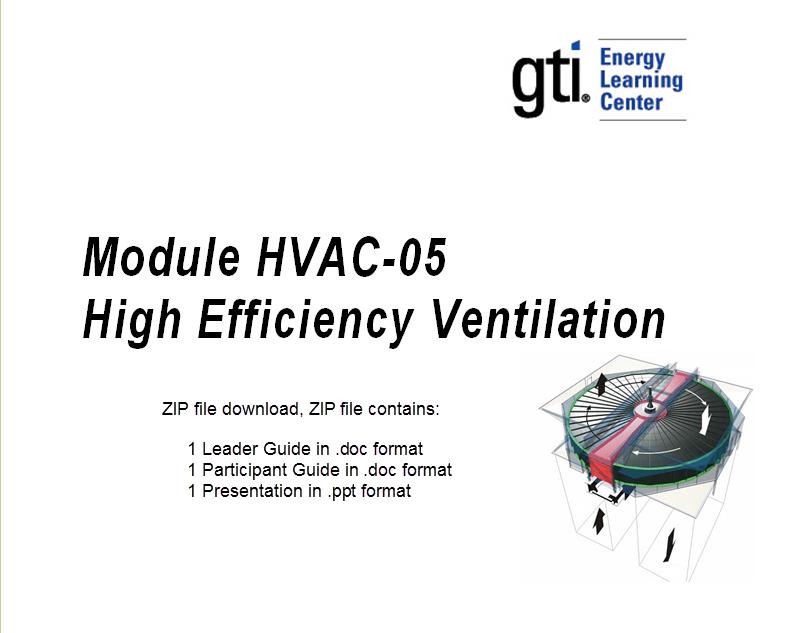 HVAC-05 High Efficiency Ventilation